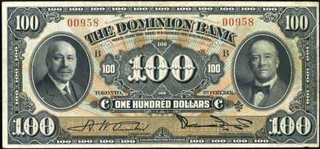 dominion bank 1931 100