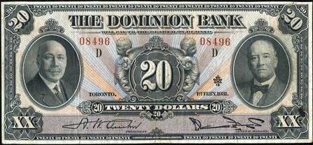 dominion bank 1931 20