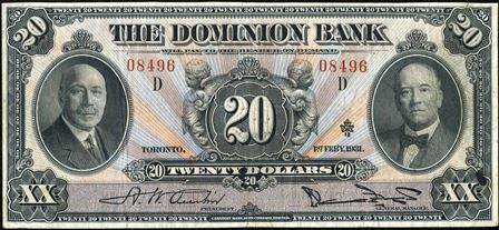 dominion bank 1931 20