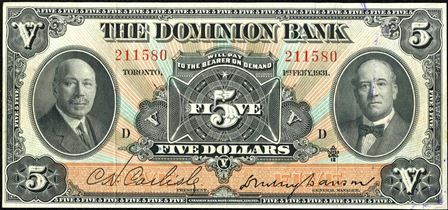 dominion bank 1931 5