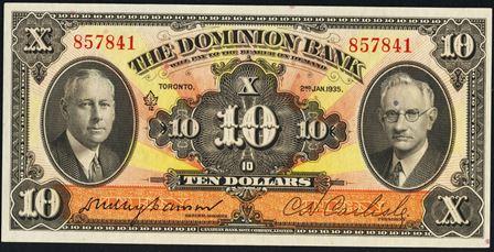 dominion bank 1935 10