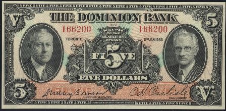 dominion bank 1935 5