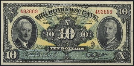 dominion bank 1938 10