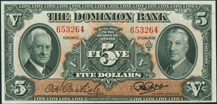 dominion bank 1938 5