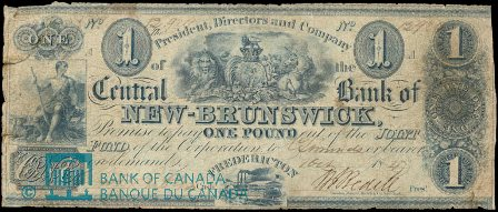 early central bank of new brunswick