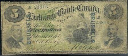 exchange montreal five dollar banknote