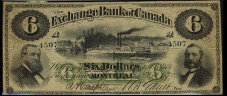 exchange montreal six dollars