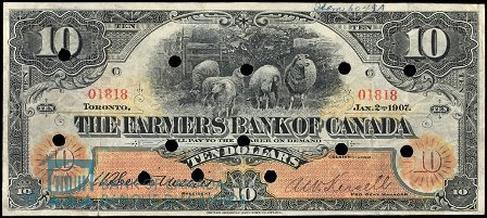 farmers bank of canada 1907 10