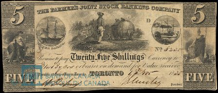 farmers joint stock banking toronto 1835 5