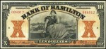 Value of Old Banknotes from The Bank of Hamilton, Canada