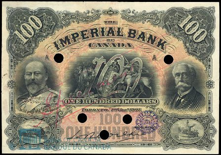 imperial bank 1907 100