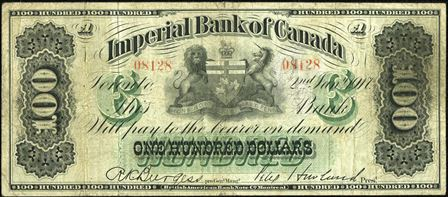 imperial bank 1917 100
