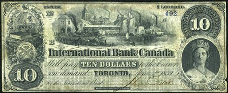 Old Money from The International Bank of Canada in Toronto