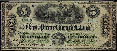 prince edward island five dollar bank note
