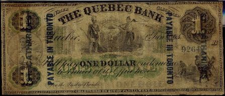quebec 1863 with overprint