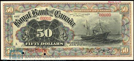 royal canada 1909 50