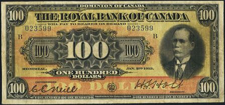 royal canada 1913 100