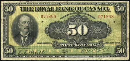 royal canada 1913 50