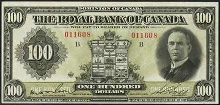 royal canada 1927 100