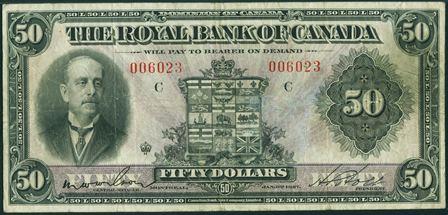 royal canada 1927 50