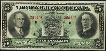 royal canada 1933 5