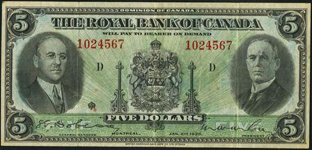 royal canada 1935 5