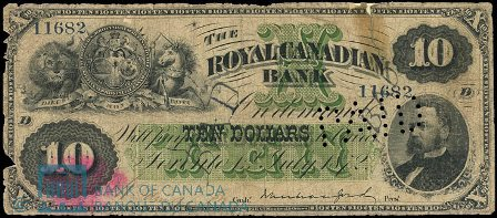 royal canadian bank 1872 10