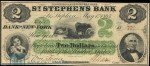 Value of Old Banknotes from The St. Stephen's Bank, Canada