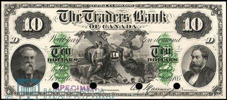 traders bank 1885 10