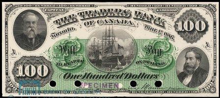 traders bank 1886 100