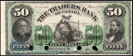 traders bank 1886 50