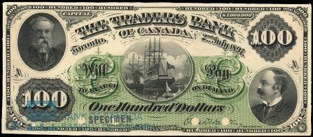 traders bank 1897 100