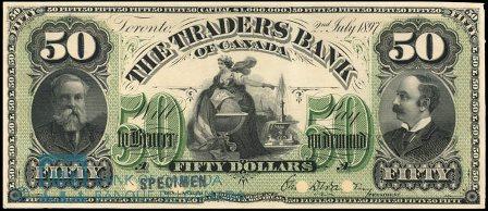 traders bank 1897 50