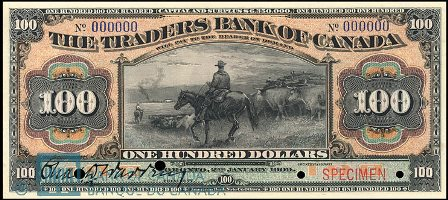 traders bank 1909 100