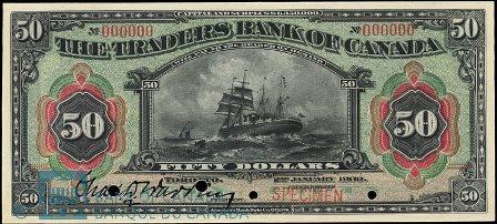 traders bank 1909 50