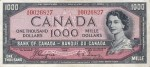 Value of 1954 Devils Face $1000 Bill from The Bank of Canada