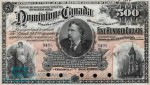 Value of July 2nd 1896 $500 Bill from The Dominion of Canada
