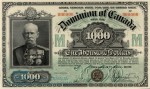 Value of 2nd Jany 1901 $1,000 Bill from The Dominion of Canada