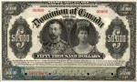 Value of Jany 2nd 1918 $50,000 Bill from The Dominion of Canada