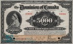 Value of Jany 2nd 1924 $5,000 Bill from The Dominion of Canada