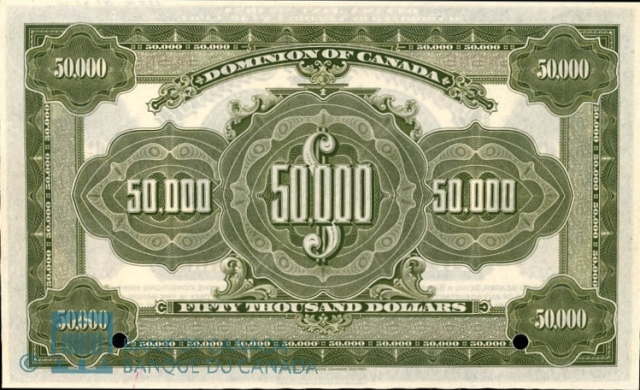 Value of jany 2nd 1924 50 000 bill from the dominion of for 50000 dollar house