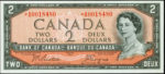 Value of 1954 Devils Face $2 Bill from The Bank of Canada