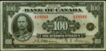 Value of 1935 $100 Bill from The Bank of Canada