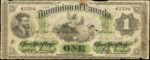 Value of July 1st 1870 $1 Bill from The Dominion of Canada