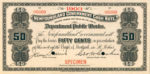 Value of Newfoundland Government Cash Note for Fifty Cents 1st Series