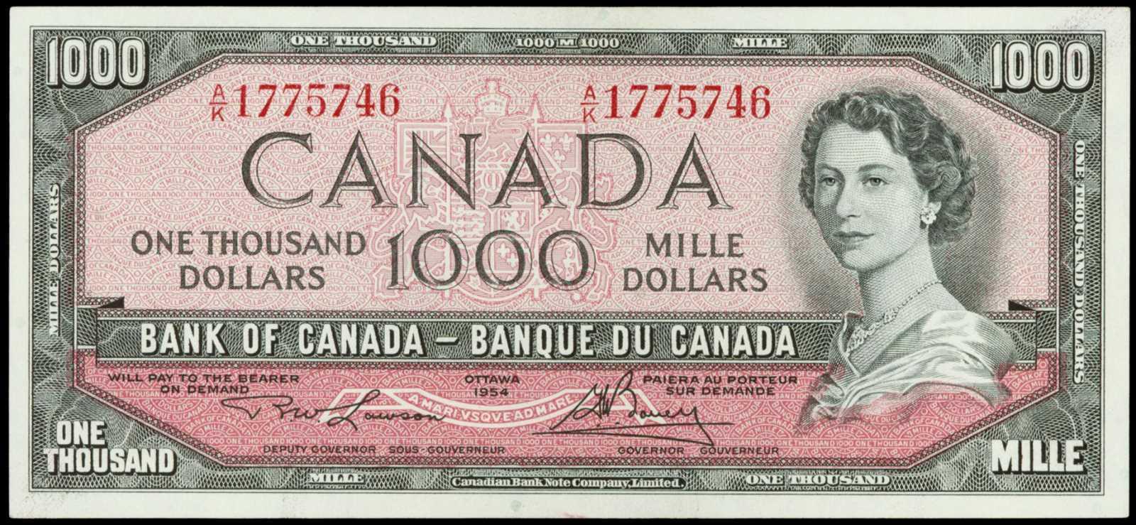Value Of 1954 Devils Face 1000 Bill